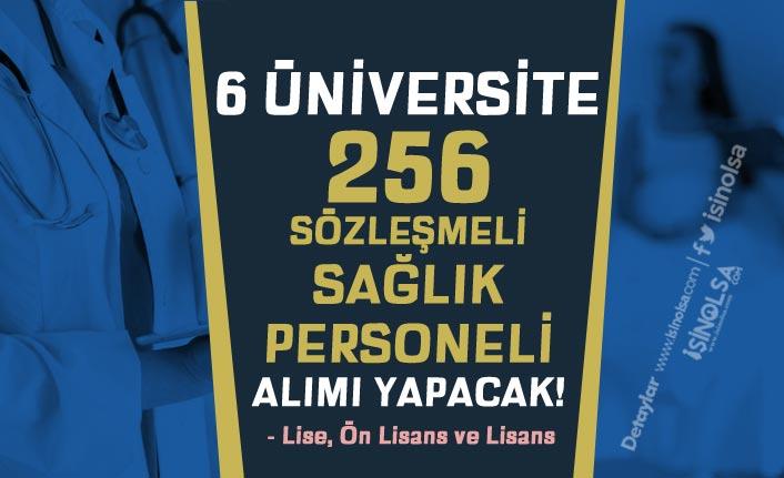 En Az Lise Mezunu 6 Üniversite 256 Sözleşmeli Sağlık Personeli Alacak!