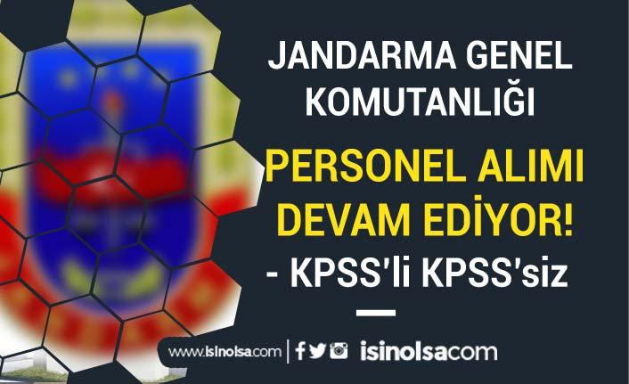 Jandarma Yüksek Maaş İle Personel Alımı Başvuruları Devam Ediyor! KPSS li KPSS siz