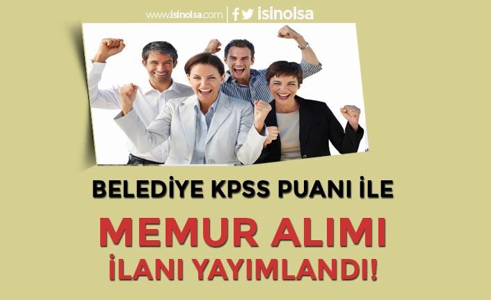 Kırklareli Büyükmandıra Belediyesi KPSS Puanı İle Düz Memur Alımı Yapacak