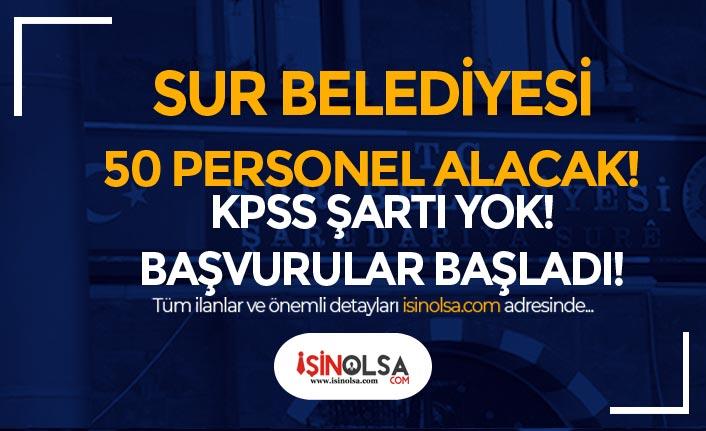 Sur Belediyesi KPSS siz 50 Temizlik Görevlisi ve Şoför Alımı Yapacak!