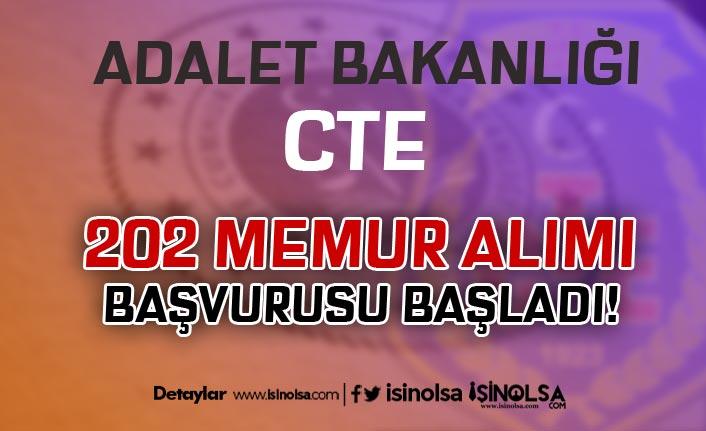 Adalet Bakanlığı CTE 202 Memur Alımı Başvurusu Başladı! KPSS Baraj Puanı Yok!