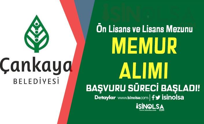 Çankaya Belediyesi Hizmetli, VHKİ, Personel ve Memur Alımı Başladı!