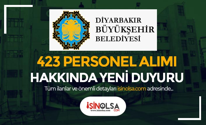 Diyarbakır Büyükşehir Belediyesi ve DİSKİ 423 Personel Alımı Mülakat Tarihleri Belli Oldu