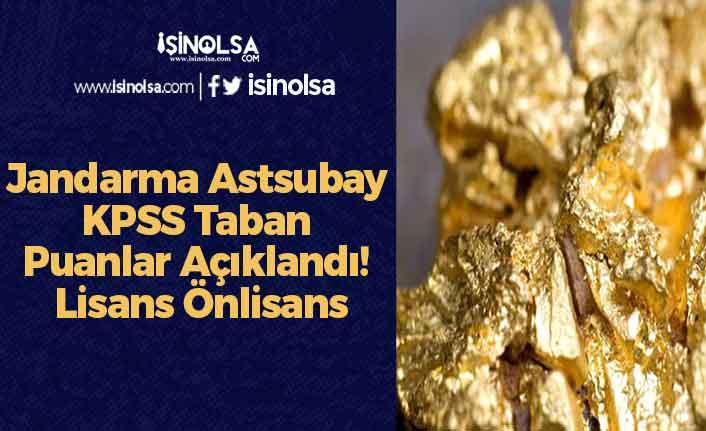 Jandarma Astsubay KPSS Taban Puanlar Açıklandı! Lisans Önlisans