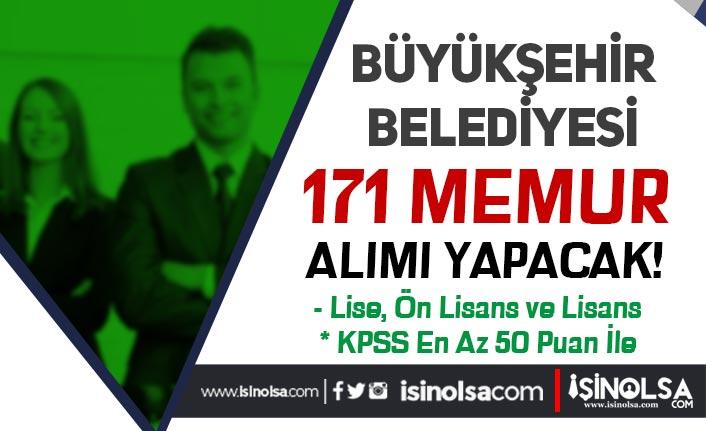 MBB ( Muğla Büyükşehir Belediyesi ) 171 Memur Alımı Yapacak!