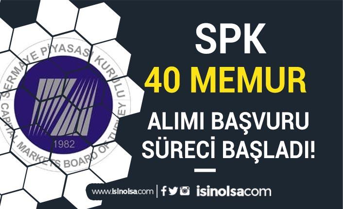 SPK 2019 ve 2020 KPSS Puanı ile 40 Memur Alımı Başvuru Süreci Başladı!