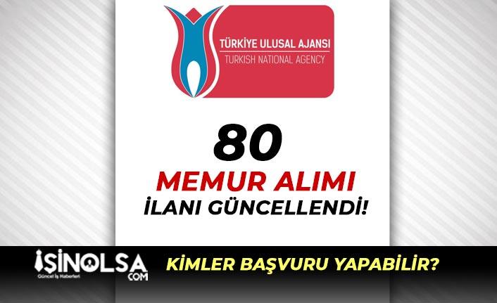Türkiye Ulusal Ajansı 80 Memur Alımı Düzeltme İlanı Yayımlandı!