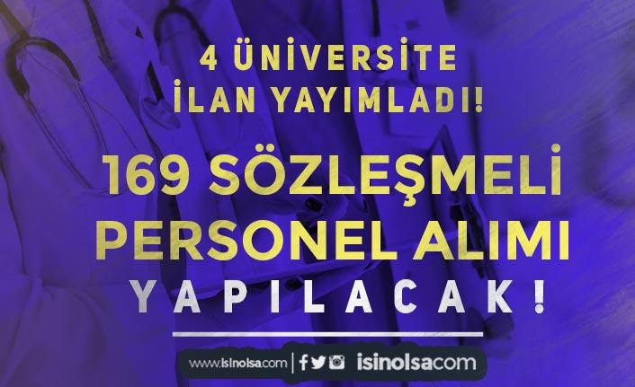 4 Üniversiteye Mülakatsız 169 Sözleşmeli Personel Alıyor! Lise, Ön Lisans ve Lisans