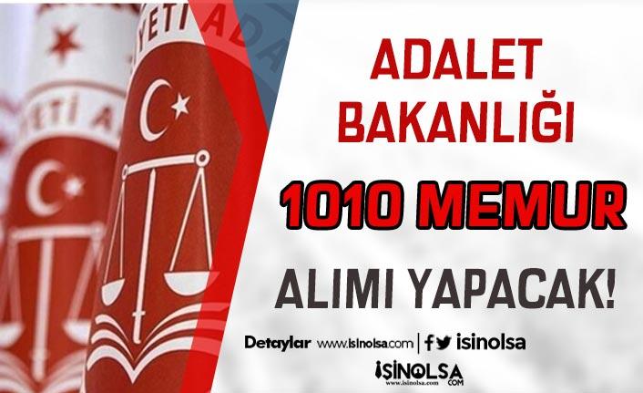 Adalet Bakanlığı 2021 Yılı 1010 Memur Alımı Yapacak! Kadrolar Belli Oldu!
