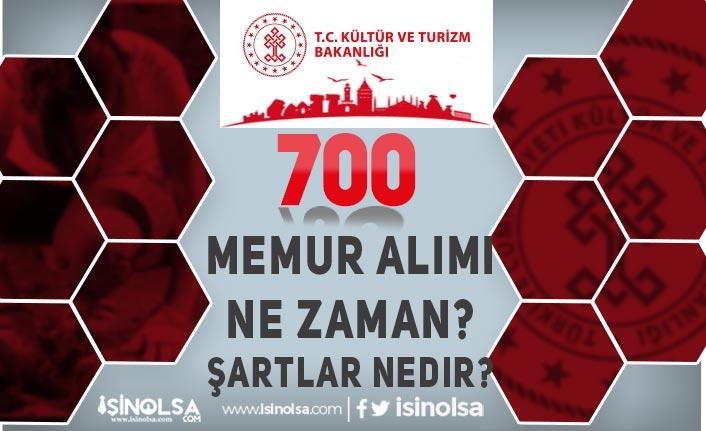 Kültür Bakanlığı 700 Memur Alımı Ne Zaman? 2021 Başvuru Şartları Nedir?