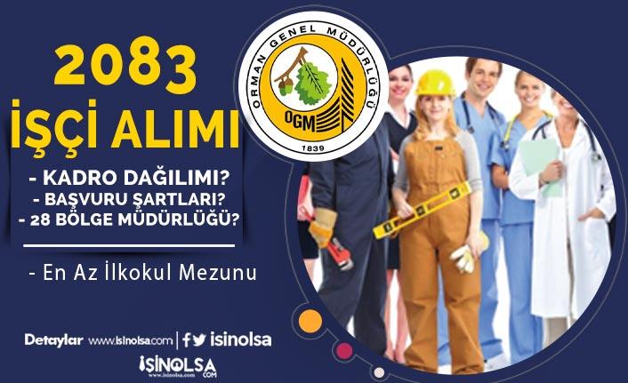 OGM 2083 İşçi Alımı Kadroları - Başvuru Tarihi, Şartlar ve 28 Müdürlük Nedir?