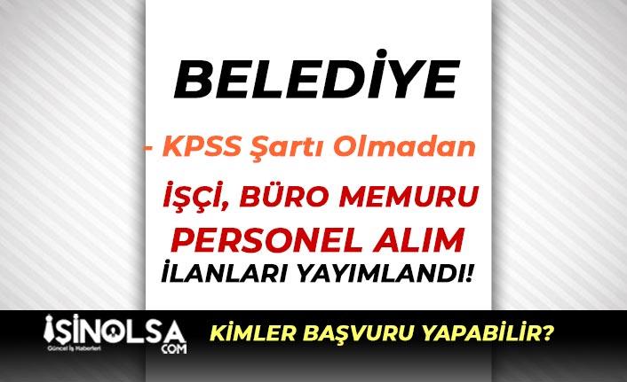 Zonguldak Ereğli Belediyesi 76 İşçi ve Memur Alımı Yapıyor!