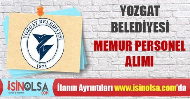 Yozgat Belediyesi Memur Personel Alımı
