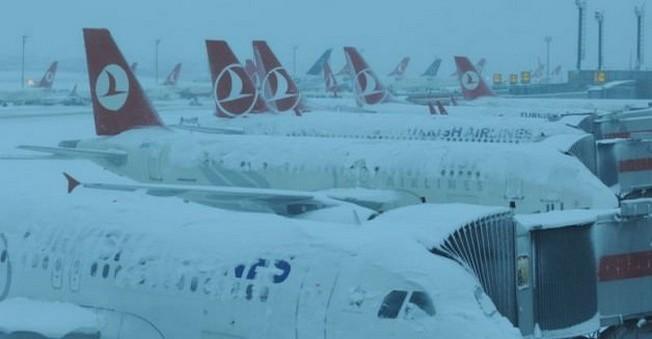 34 THY Sefer Daha Kar Yağışı Nedeniyle İptal Edildi