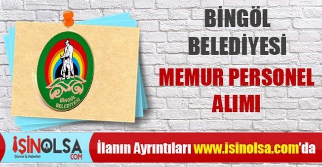 Bingöl Belediyesi Memur Personel Alımı