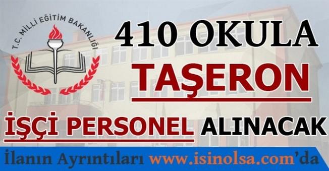 410 Okula Taşeron İşçi Personel Alınacak