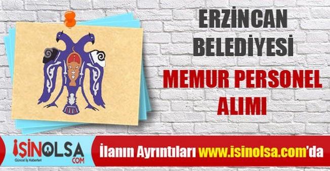 Erzincan Belediyesi Memur Personel Alımı