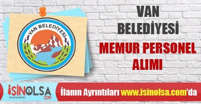 Van Belediyesi Memur Personel Alımı