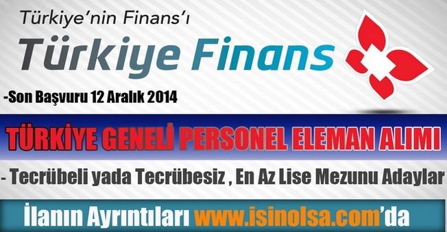 Türkiye Finans Katılım Bankası Lise Mezunu Personel Eleman Alımı