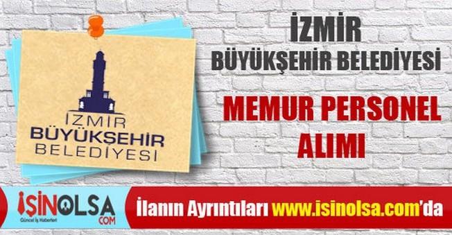 İzmir Büyükşehir Belediyesi Memur Personel Alımı