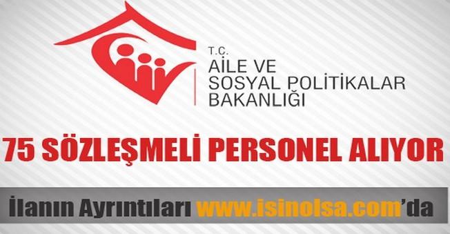 Aile ve Sosyal Politikalar Bakanlığı Sözleşmeli Personel Alımı