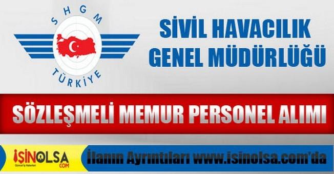 Sivil Havacılık Sözleşmeli Memur Personel Alımı