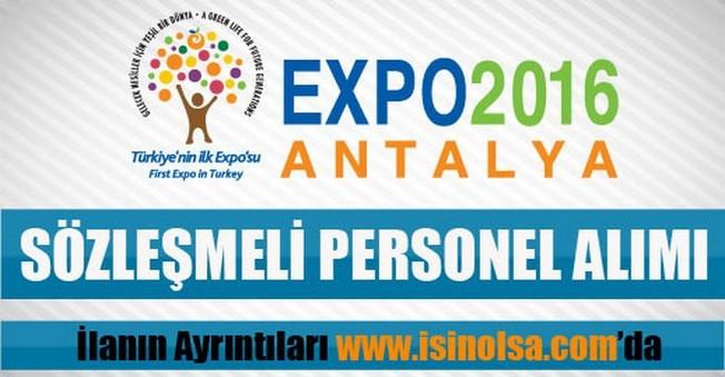 EXPO 2016 Antalya Ajansı Sözleşmeli Personel Alımı