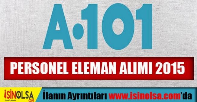 A101 Personel Eleman Alımı 2015
