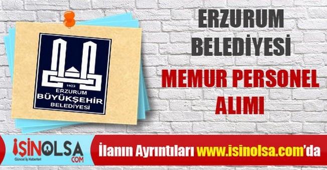 Erzurum Belediyesi Memur Personel Alımı