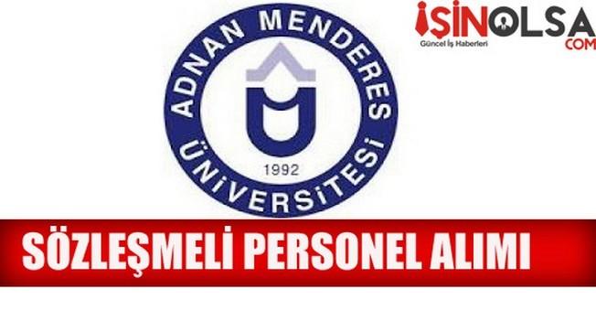 2014 Adnan Menderes Üniversitesi Sözleşmeli Personel Alımı