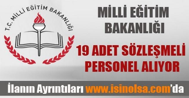 Milli Eğitim Bakanlığı Sözleşmeli Personel Alımı