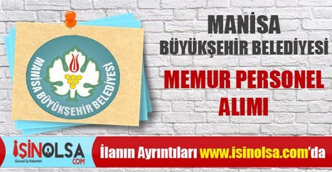 Manisa Büyükşehir Belediyesi Memur Personel Alımı