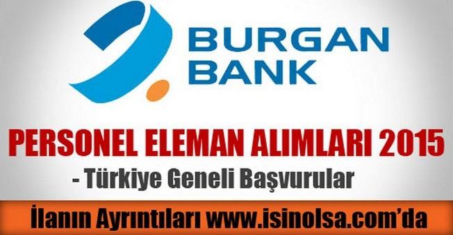 Burgan Bank Personel Eleman Alımı 2015