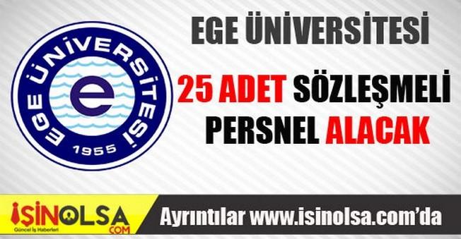 Ege Üniversitesi Sözleşmeli Personel Alımı