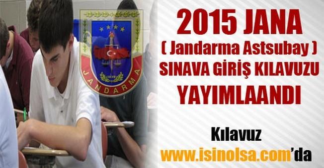 2015 JANA (Jandarma Astsubay ) Kılavuzu Yayımlandı