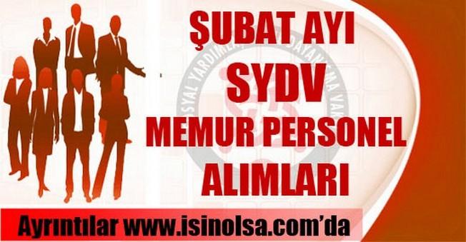 Şubat Ayı SYDV Personel Alımları