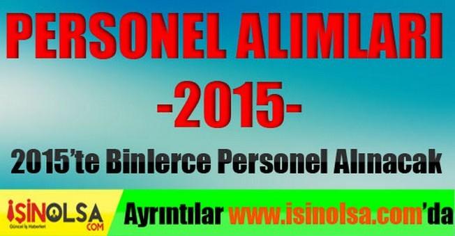 Personel Alımları 2015