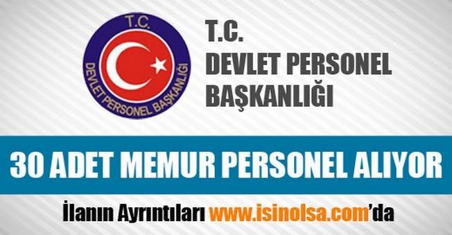 Devlet Personel Başkanlığı Memur Personel Alımı