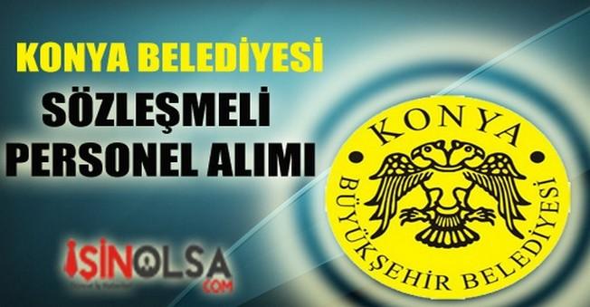 Konya Belediyesi Sözleşmeli Personel Alımı