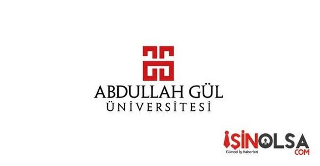 Abdullah Gül Üniversitesi Öğretim Elemanı Alımı