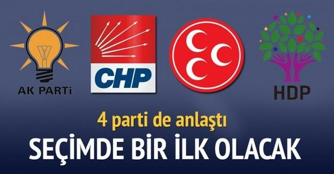 AK Parti İstedi CHP,MHP Ve HDP Sıcak Baktı!Seçimlerde Bir İlk