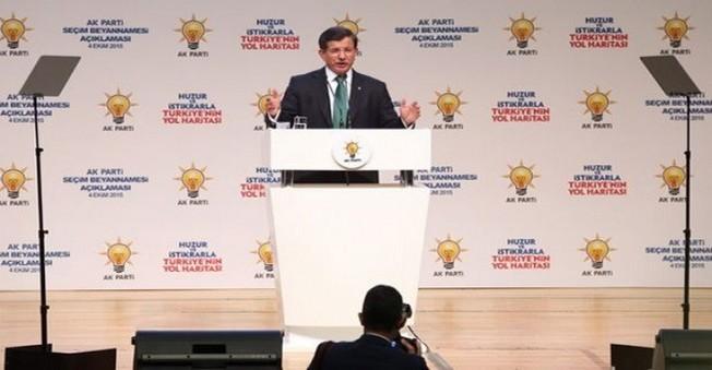 AK PARTİ'nin Seçim  Beyannamesi'ni Ahmet Davutoğlu Açıklıyor