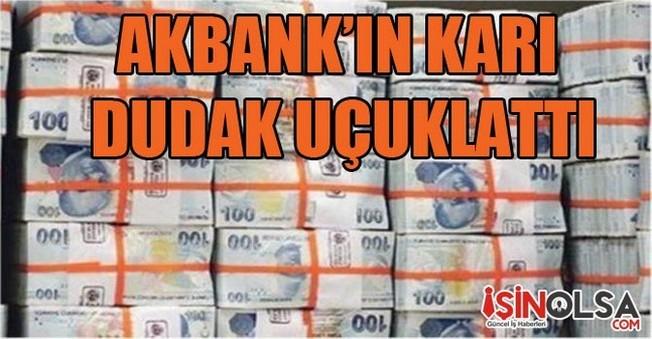 Akbank'ın Üç Aylık Karı Dudak Uçuklattı