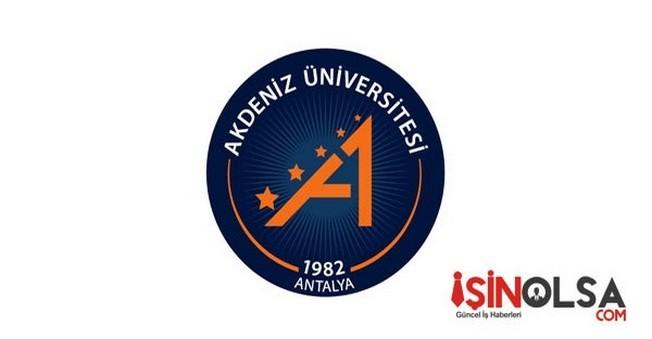 Akdeniz Üniversitesi Öğretim Elemanı Alımı