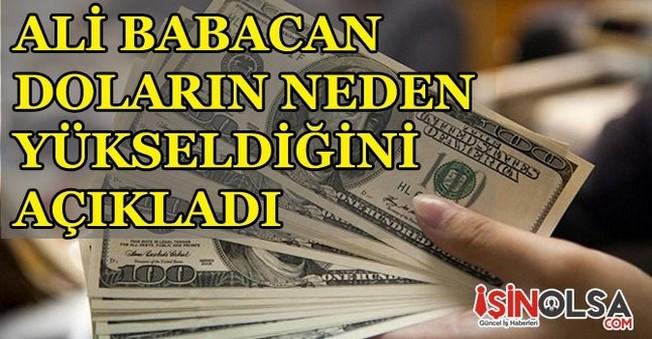 Ali Babacan Doların Neden Yükseldiğini Açıkladı