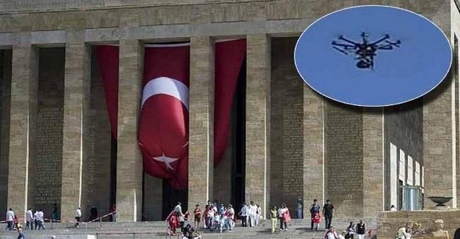 Anıtkabir'de 'İHA' Paniği Yaşandı!
