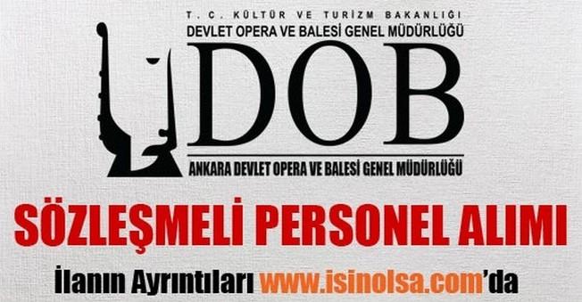 Ankara Devlet Opera ve Balesi Sözleşmeli Personel Alımı