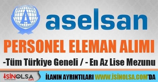 Aselsan Elektronik Personel Eleman Alımı İş Başvurusu