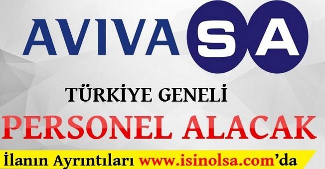 AvivaSA Türkiye Geneli Personel Alımı