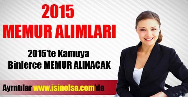 Memur Alımları 2015